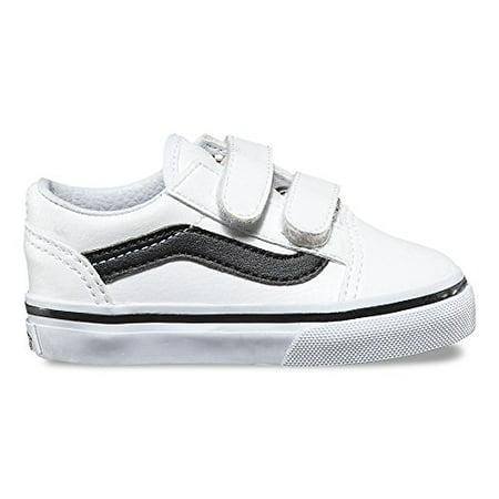 a9f74dfc8db Vans - Vans VN-0A38JNNQS   Old Skool V Toddler Classic Tumble White Black  Shoes (5 M US Toddler) - Walmart.com