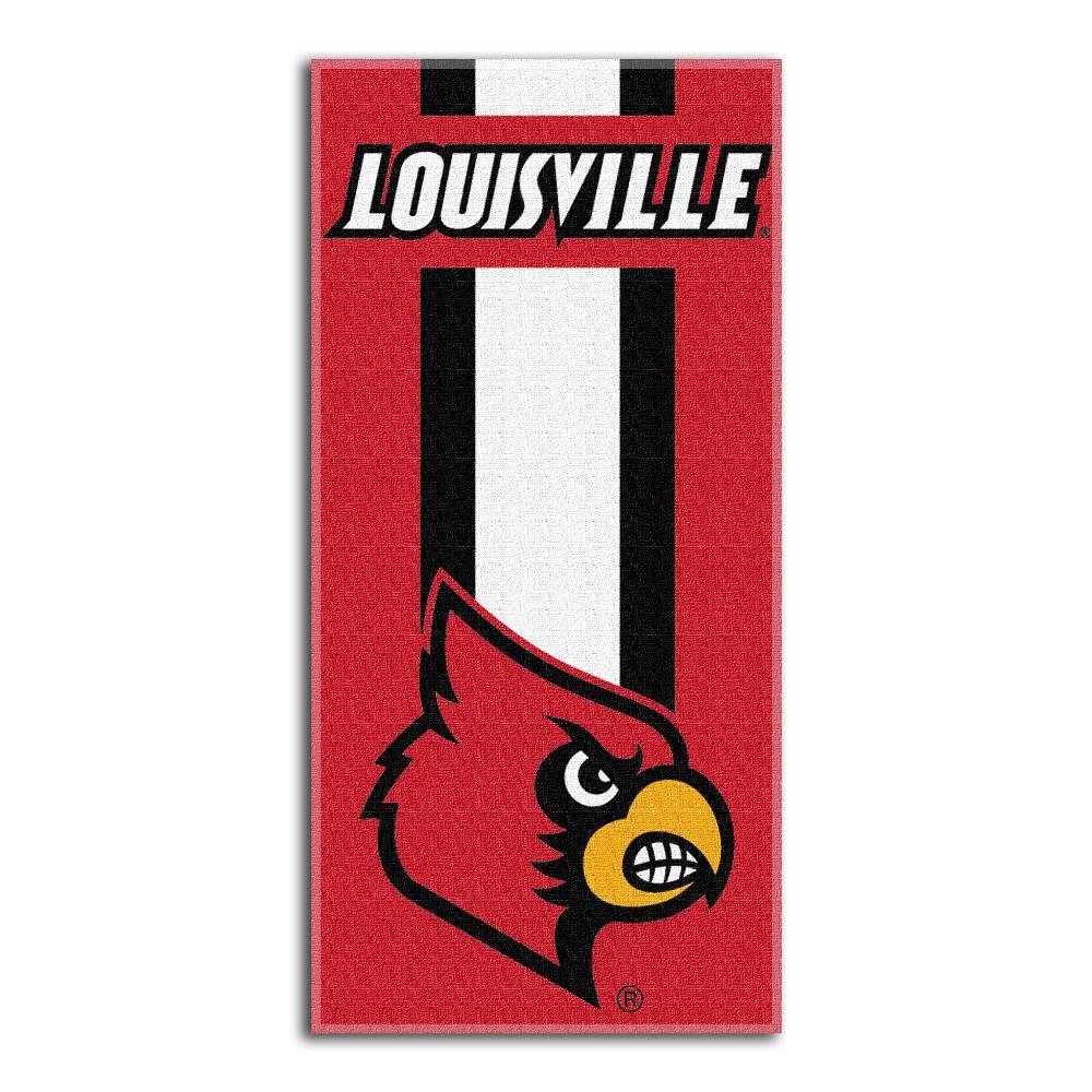 "NCAA Louisville Cardinals ""Zone Read"" 30"" x 60"" Beach Towel"
