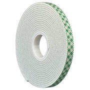 3M Double Coated Tape,1/2In x 5 yd.,Natura 4016