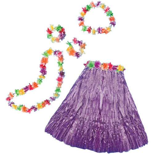 Purple Aloha Set Adult Halloween Accessory