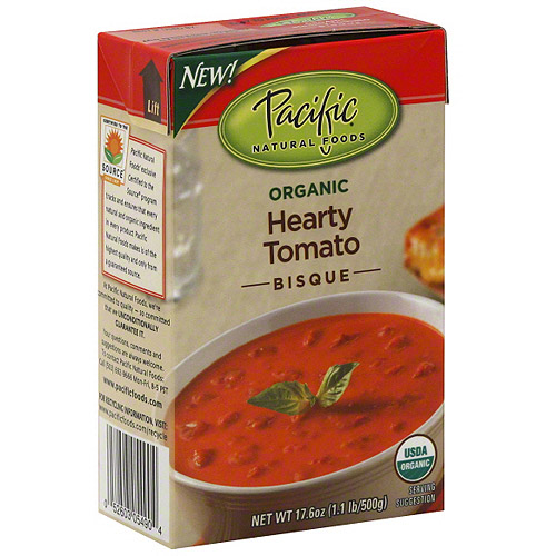Pacific Natural Foods Hearty Tomato Bisque Soup, 17.6 oz (Pack of 12)