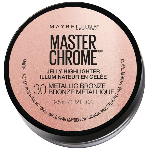 Maybelline Master Chrome Jelly Highlighter Face Makeup, Metallic Bronze, 0.32 fl. oz., ONLY AT WALMART