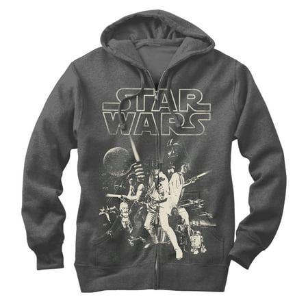Star Wars Men's Classic Poster Zip Up Hoodie