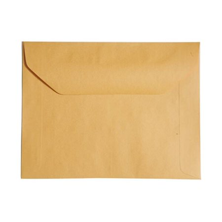 "JAM Paper 10"" x 13"" Booklet Envelopes, Brown Kraft, 100 per box"