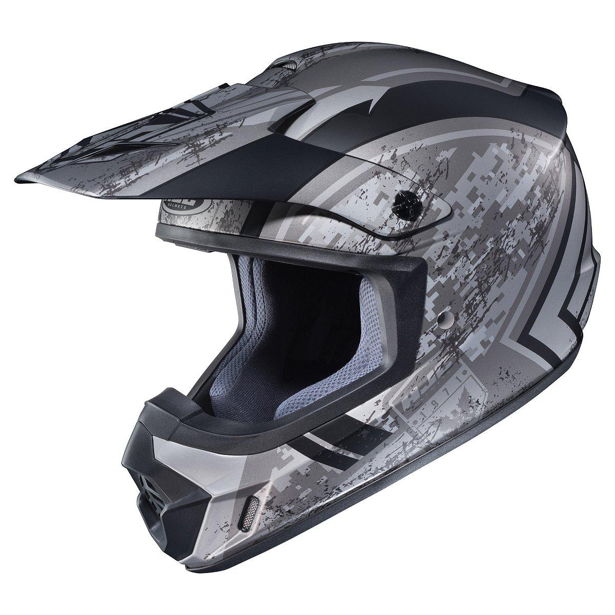 HJC CS-MX 2 Squad MX Offroad Helmet Matte Silver/Black