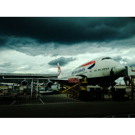 Canvas Print Airplane Baggage Luggage British Airways Airport Stretched Canvas 10 x 14