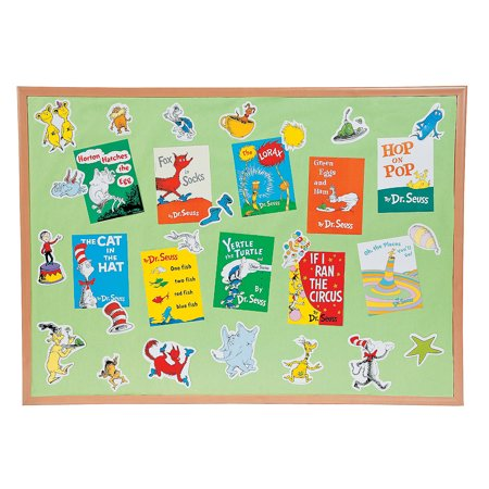 Fun Express - Bulletin Board Set - Mini - Dr. Seuss bo - Educational - Classroom Decorations - Bulletin Board Decor - 33 Pieces