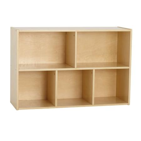 Birch Streamline 5-Compartment Storage Cabinet 24in H