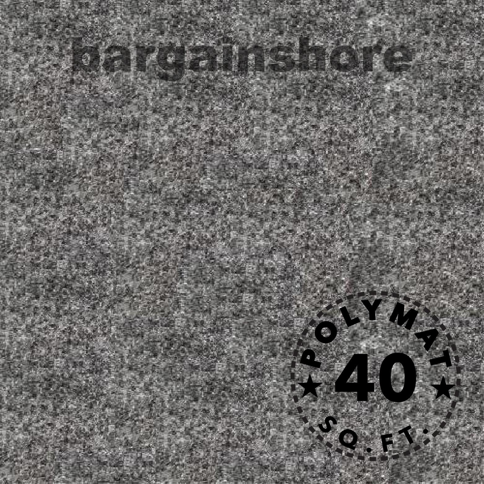 10 Feet Long by 3.75 Feet Wide Polymat Charcoal / Dark Grey Nonwoven Felt Fabric Carpet - Multipurpose Backed Felt Fabric for Car Truck RV Van Trunk & Interior Liner