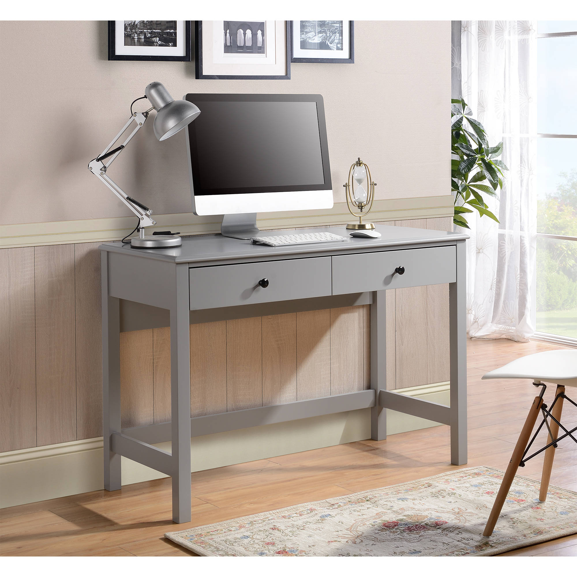Othello writing desk in Gray Paint Finish