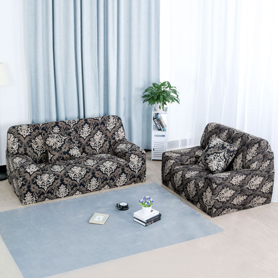 Stretch Chair Sofa Covers 1 2 3 4 Seater Style 14 Sofa-3seater - image 2 of 8