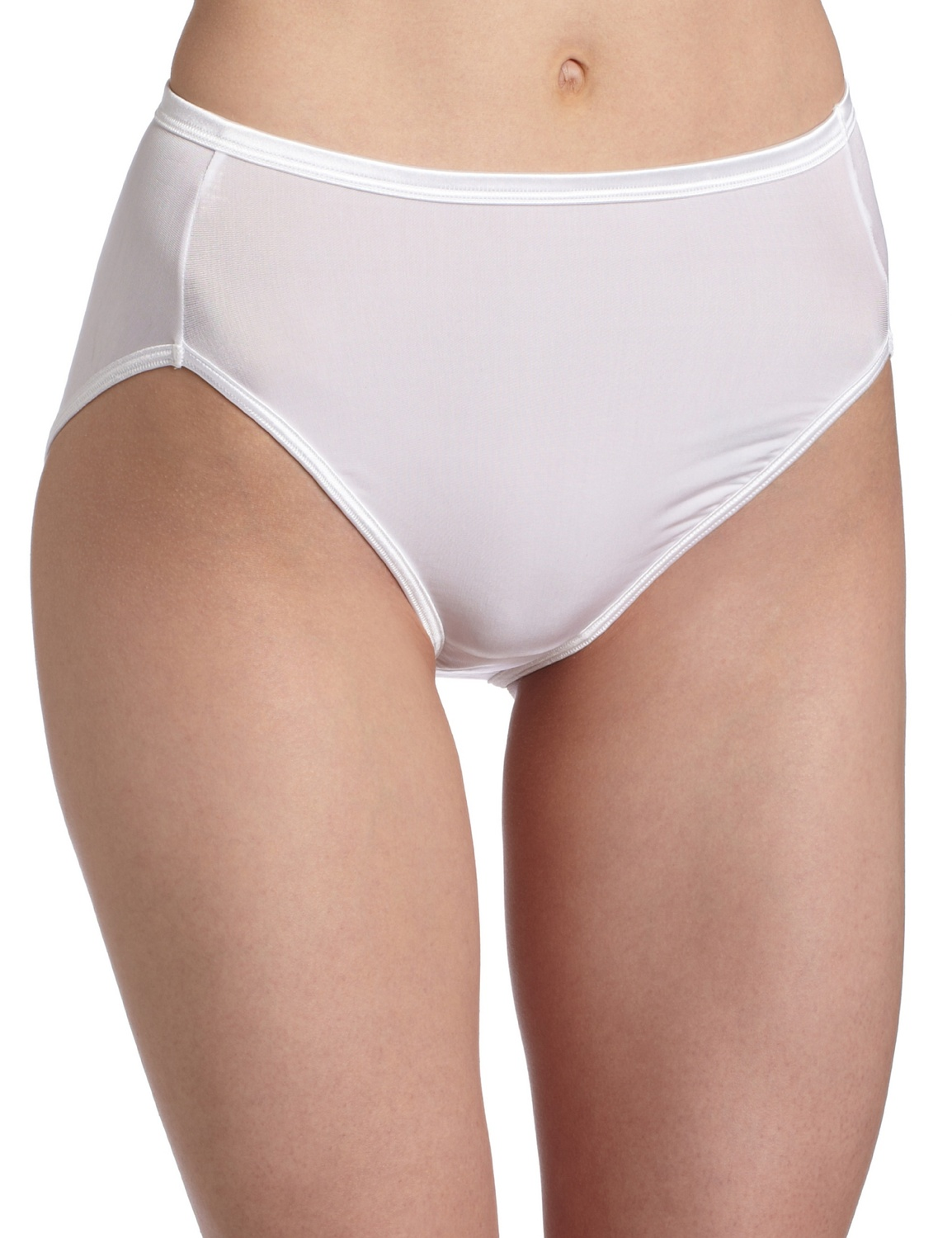 Vanity Fair Womens Body Shine Illumination Hi Cut Panty, 7, Whirlwind Print