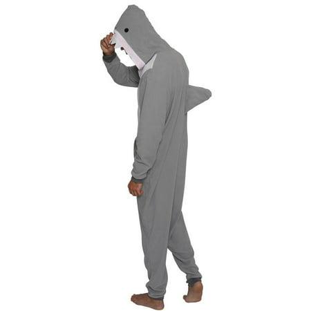 MJC International Men's Shark Cos Play One Piece Pajama Union Suit - image 2 de 4
