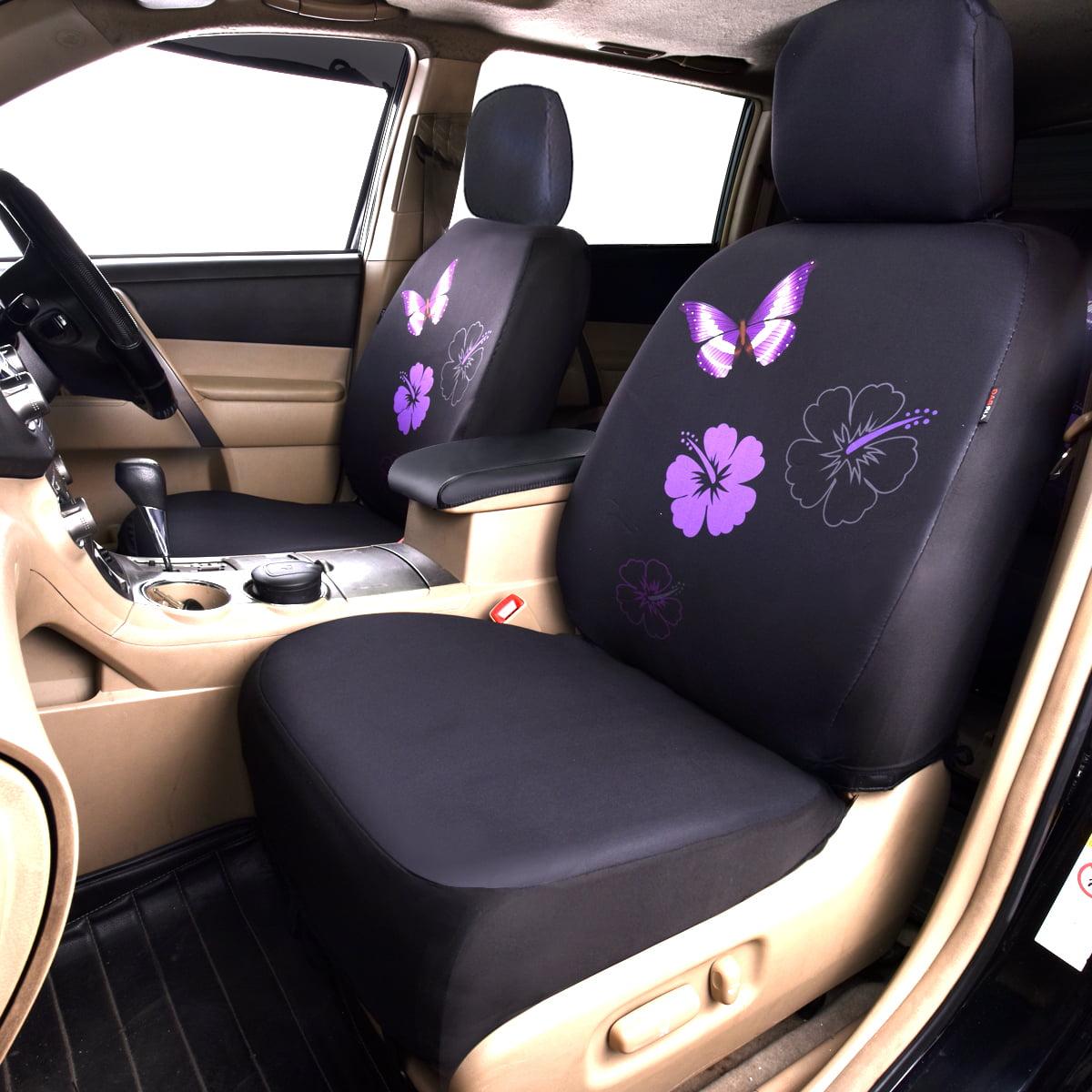 car pass housse de si ge voiture avant universelle design de papillons et fleurs compatible. Black Bedroom Furniture Sets. Home Design Ideas
