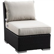 Sunset West Solana Armless Club Chair in Chocolate