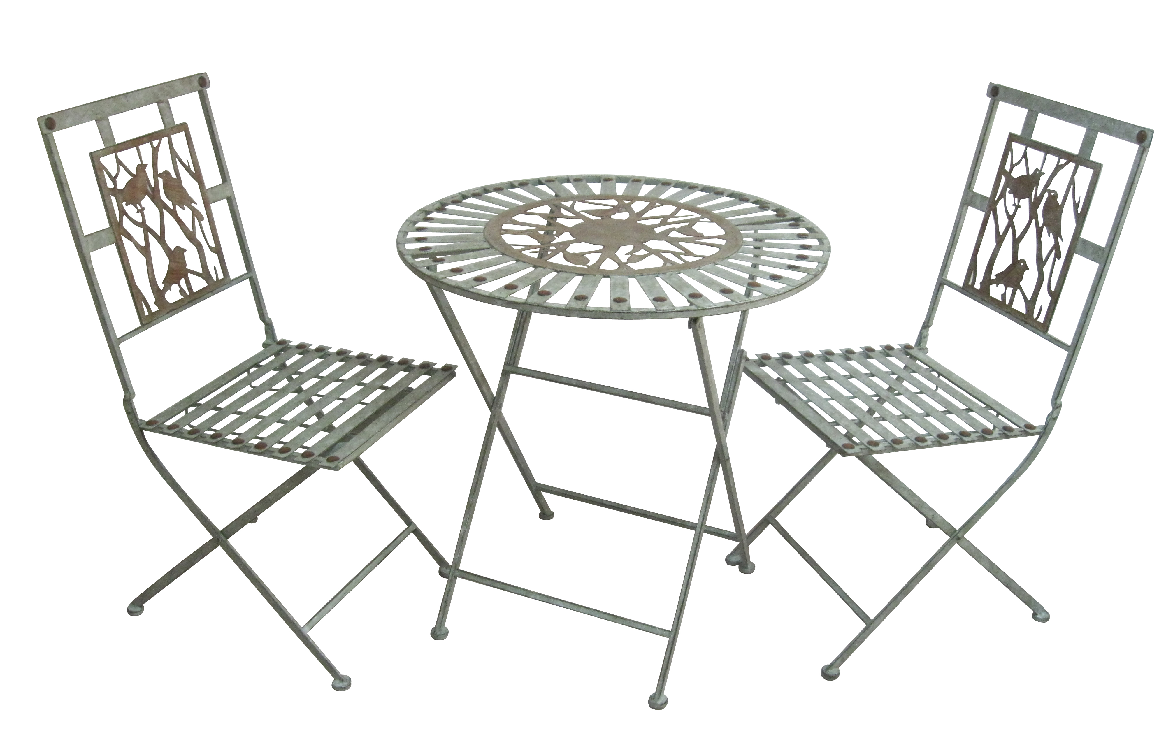 Birds On Branches Bistro Set (1 Table And 2 Chairs) by Benzara