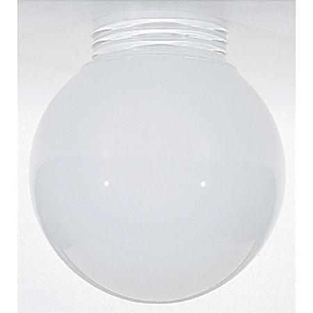 Opal Gloss Shade (Satco 6in Opal Ball Glass Globe Shade Inside Sprayed White Screw Fitter 3-11/64in)