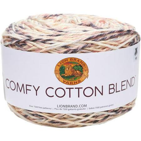 Lion Brand Yarn 392 Yd Comfy Cotton Blend Chai Latte Yarn