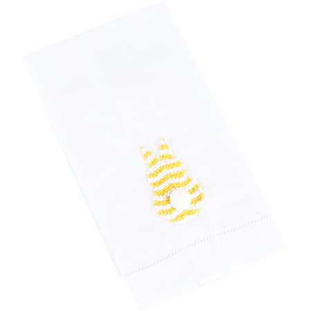 Saro French Knot Embroidered Bunny Hand Towel (Set of 4) - Bunny French