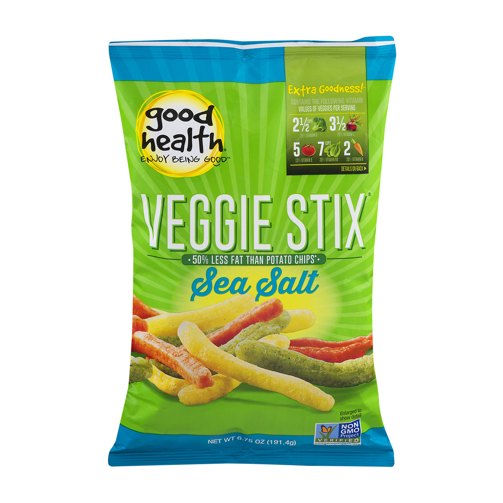Good Health Veggie Stix Sea Salt, 6.75 OZ
