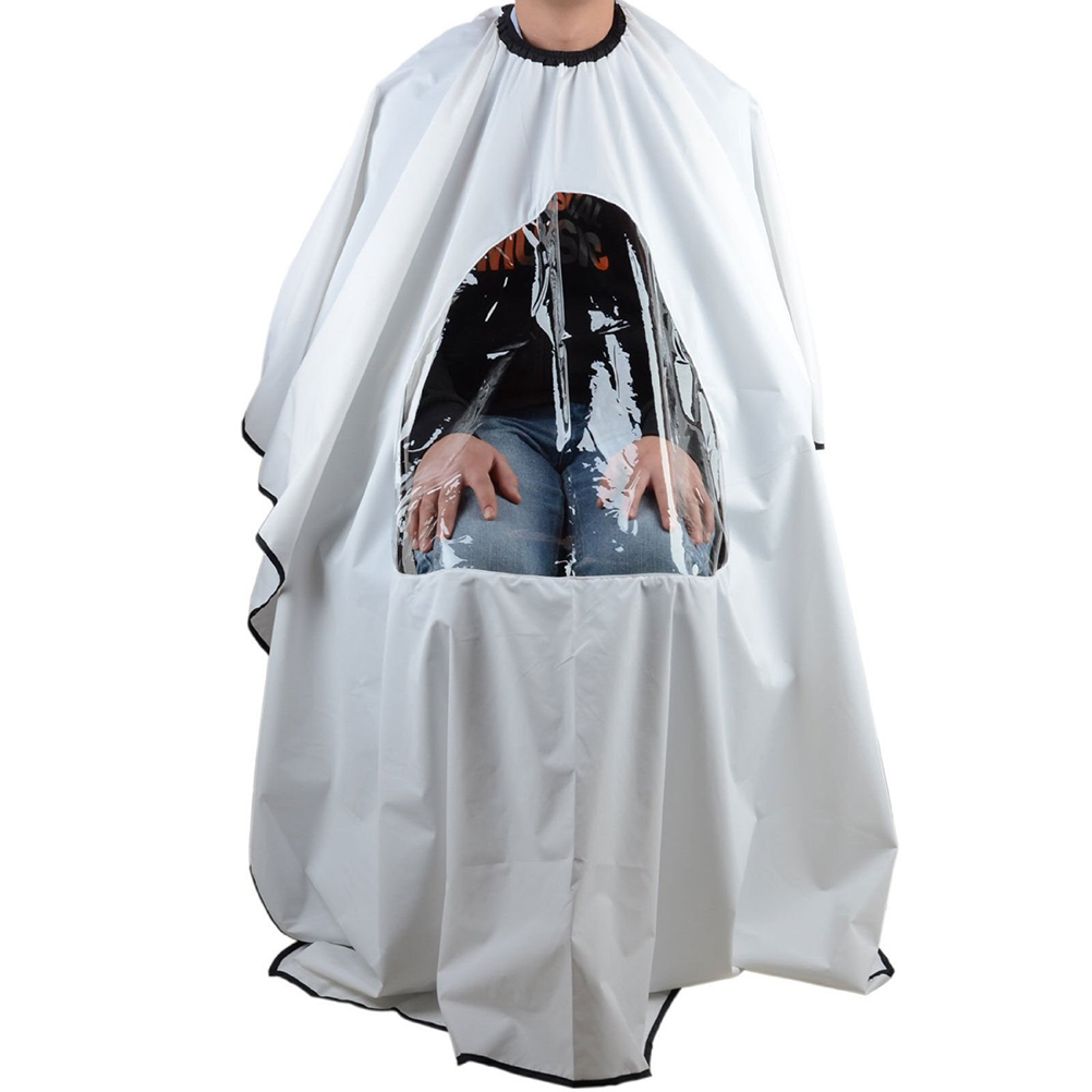 Salon Hair Cutting Cape Hairdressing Gown with Viewing Window - Walmart.com