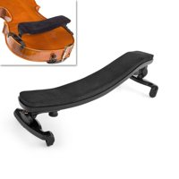 Violin Shoulder Rest Pad Support 3/4 4/4 Size Height and Angle Fully Adjustable Musical Instrument Accessory in Black Nylon Plastic Fit for Adult Beginner Player