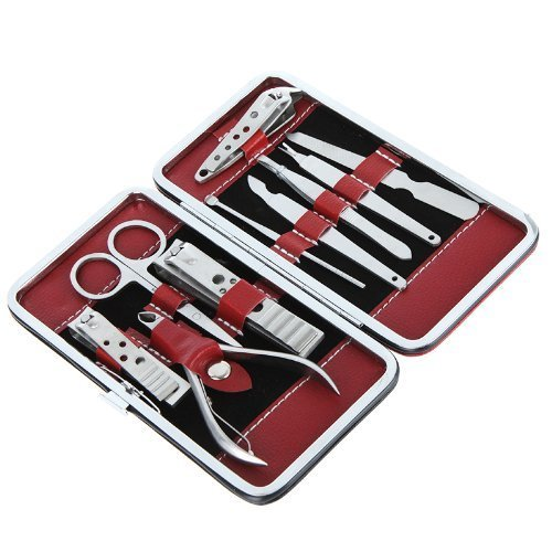 High quality Full-function nail clipper Nail Care Personal Manicure & Pedicure Set, Travel & Grooming Kit (10pcs)