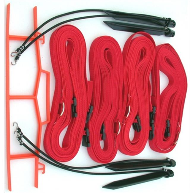 Home Court 17ARS Red 1-inch Adjustable Web Courtlines
