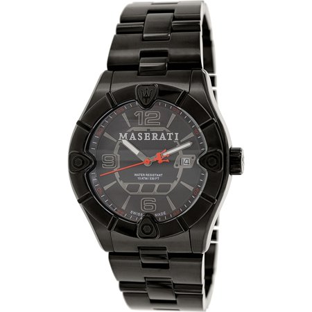 Maserati Men's Meccanica R8853111001 Black Stainless-Steel Swiss Quartz Watch