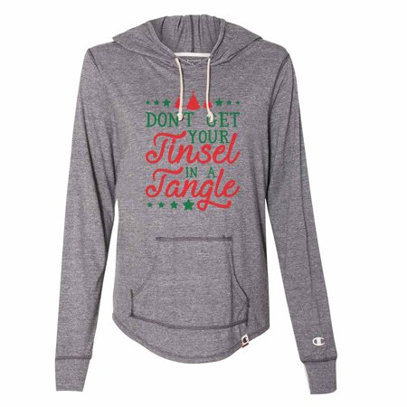 """Women's Christmas Champion Hoodie """"Don't Get Your Tinsel In A Tangle"""