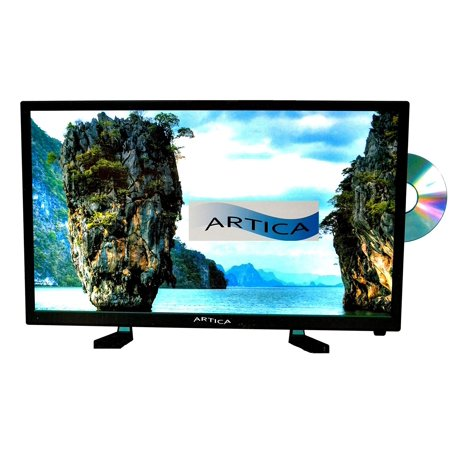 24   Artica 12 Volt Ac Dc Led Digital Hdtv With Dvd Player And Remote Control  Ar2418