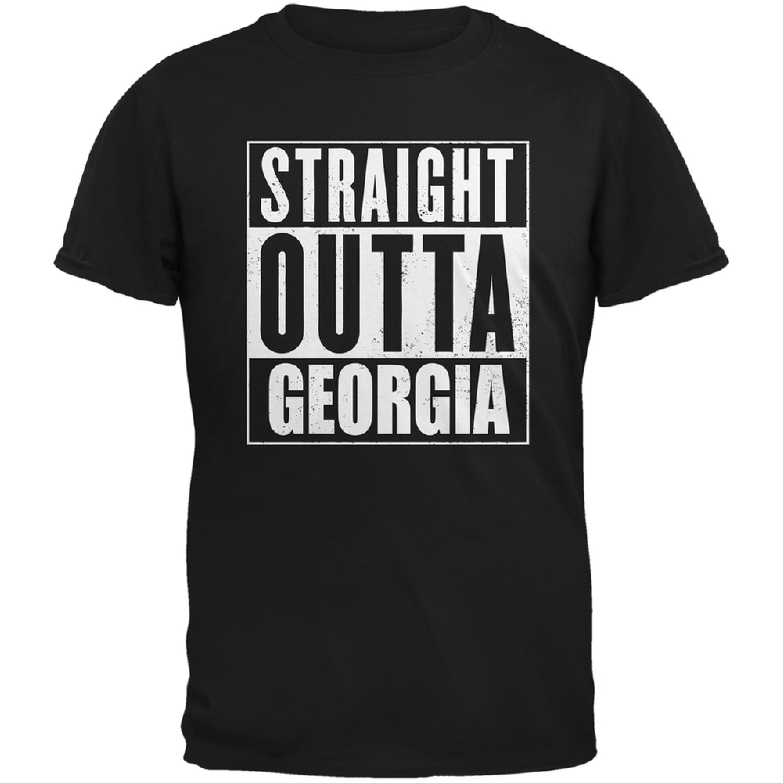 Straight Outta Georgia Black Adult T-Shirt