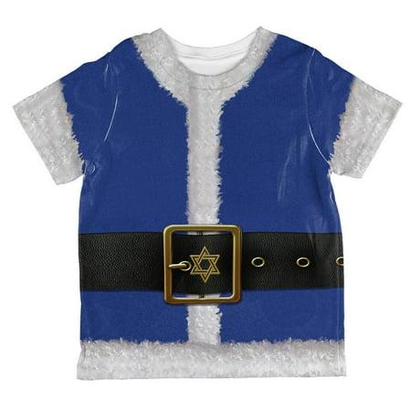 Christmas Hanukkah Jewish Santa Claus Costume All Over Toddler T Shirt - Jewish Costume