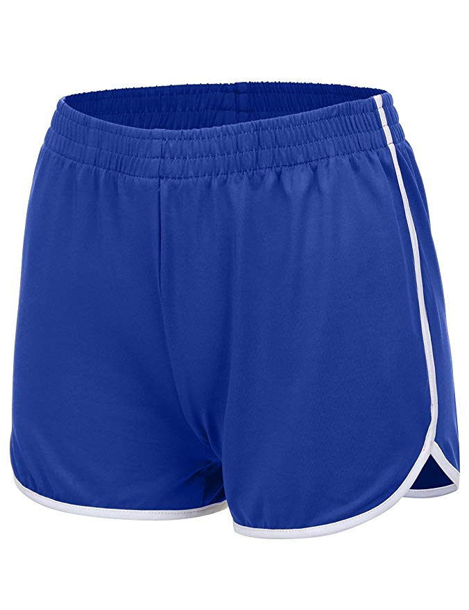 Women's Dolphin Running Shorts (Solid & Color Block, S-3X, Plus Sizes)