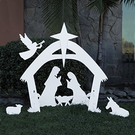 giant outdoor nativity scene large christmas yard decoration nativity set outdoors. Black Bedroom Furniture Sets. Home Design Ideas