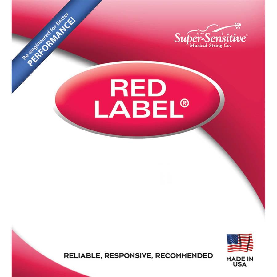 Super-Sensitive Red Label Pearl Violin String Set w/ Bonus E String, 4/4 Size