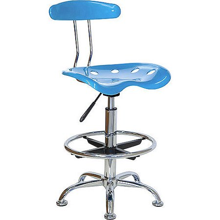 Adjustable Height Drafting Stool with Tractor Seat, Multiple Colors (Craft Table Stool)