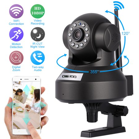 "OWSOO 1080P Wireless WIFI Pan Tilt HD IP Camera 2.0MP 1/2.7"" CMOS 3.6mm Lens Support PTZ Two-way Audio Night Vision Phone APP Control Motion (Ptz Camera Control)"