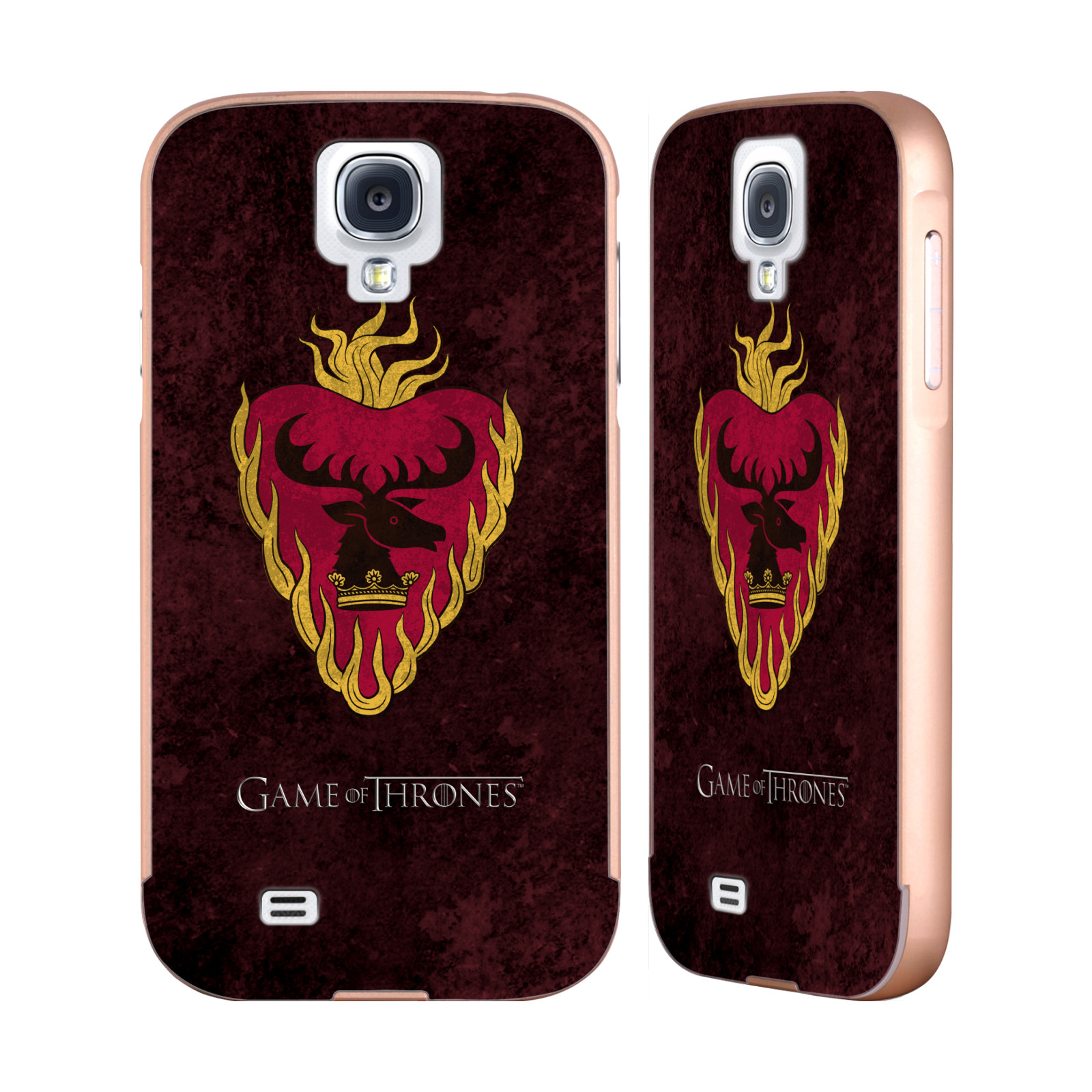 OFFICIAL HBO GAME OF THRONES DARK DISTRESSED SIGILS GOLD ALUMINIUM BUMPER SLIDER CASE FOR SAMSUNG PHONES
