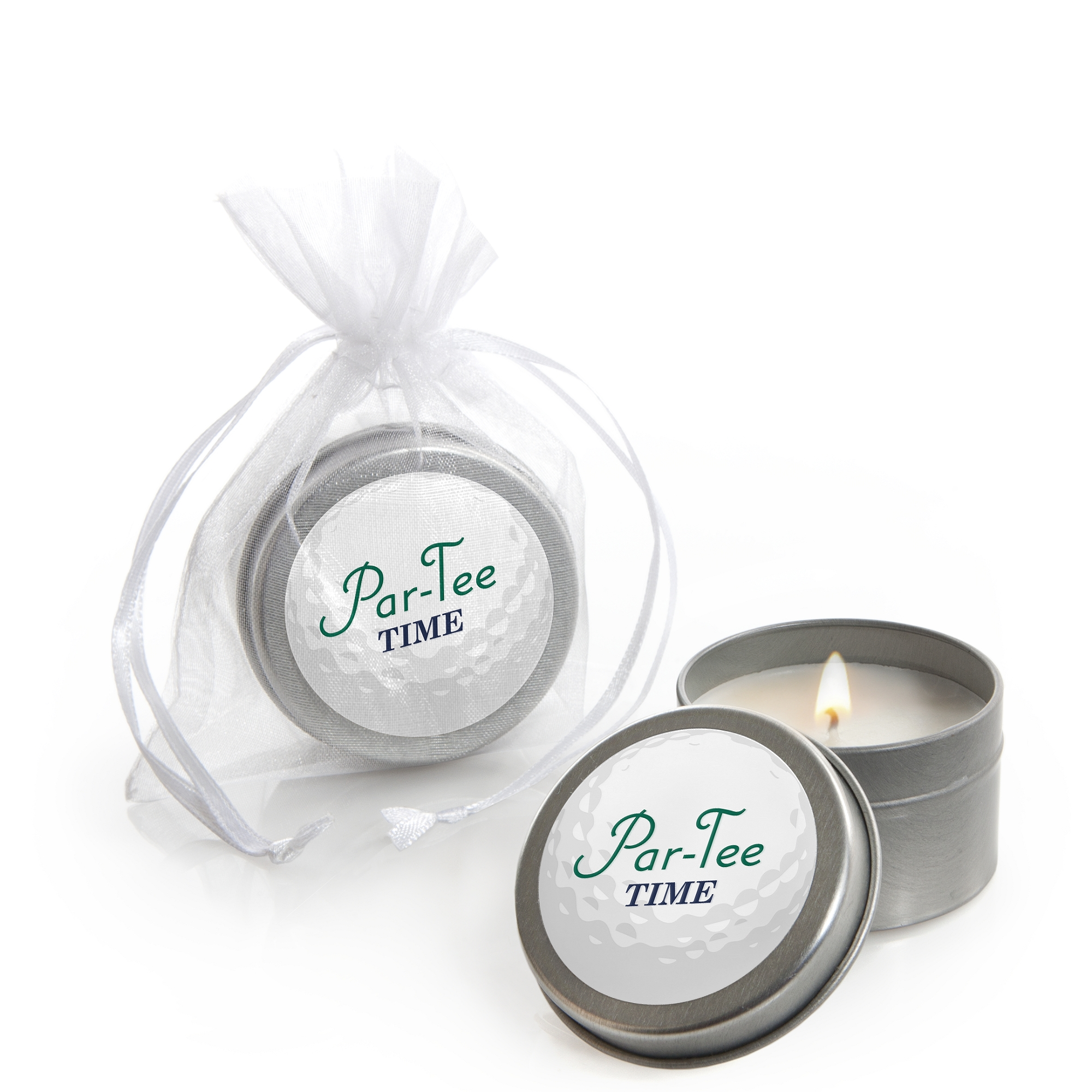 Par-Tee Time - Golf - Candle Tin Birthday or Retirement Party Favors (Set of 12)