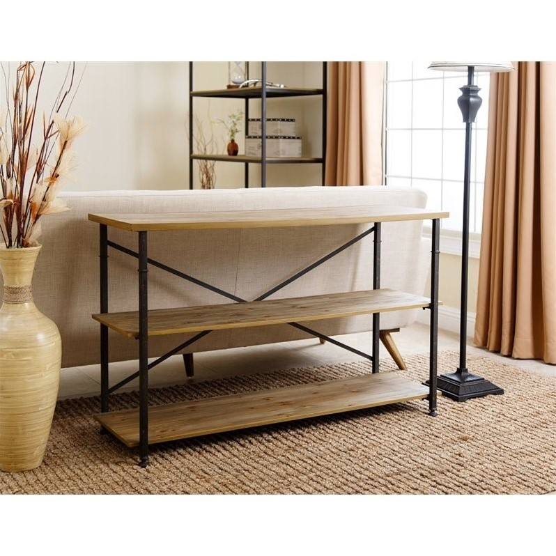 """Abbyson 47"""" Industrial TV Stand in Natural"""
