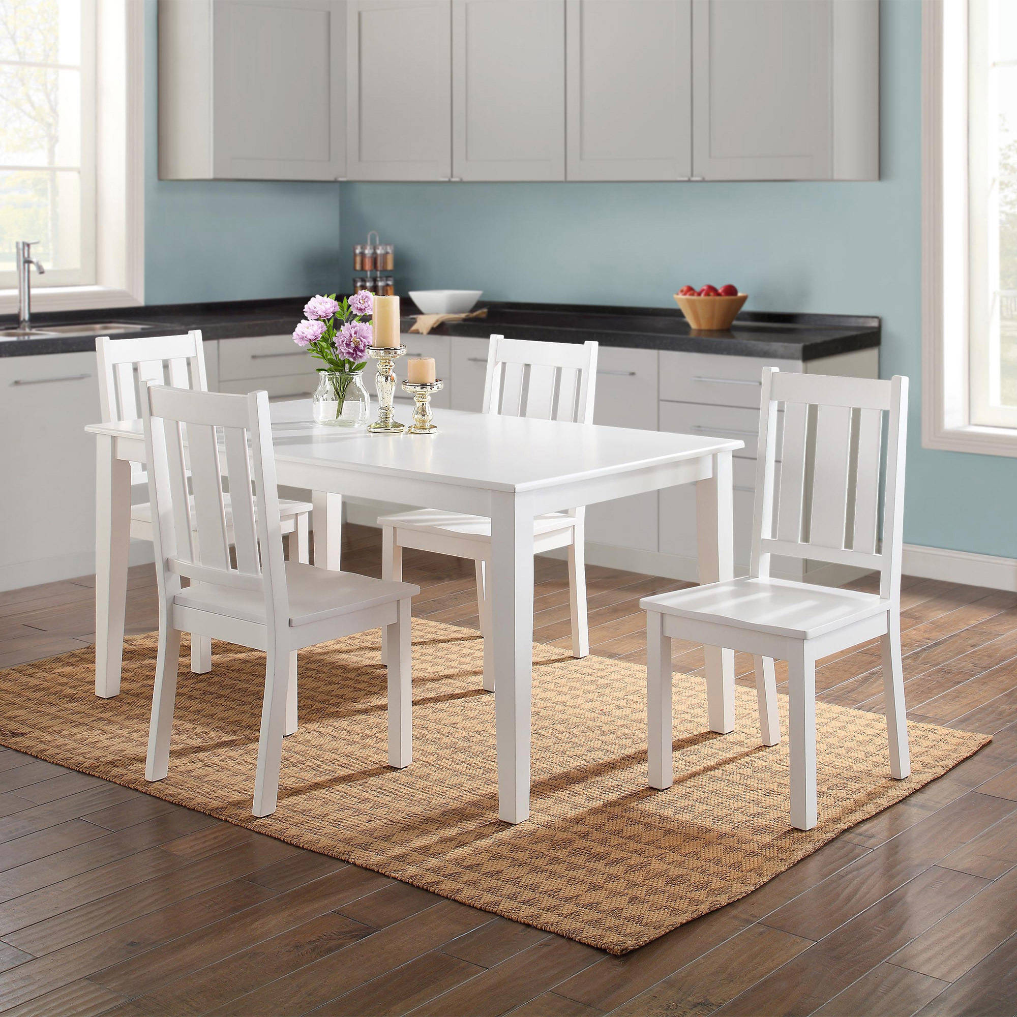 Better Homes and Gardens Bankston 5-Piece Dining Set, White