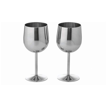 Maxam Maxam T304 Stainless Steel 2pc Wine Goblet Set