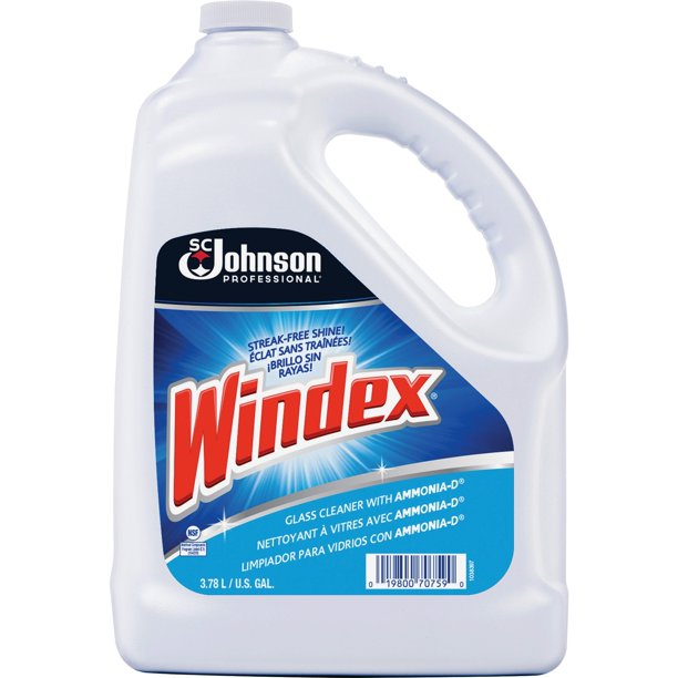 Windex Powerized Formula Glass Surface Cleaner, 128 Oz