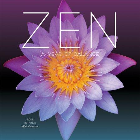 zen 2018 mini wall calendar