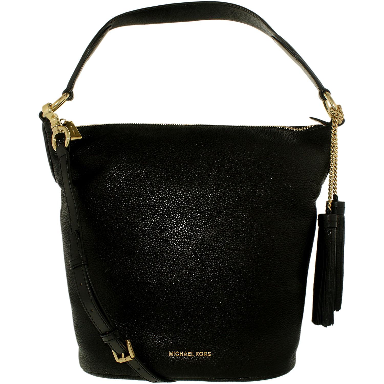 d523013008dd Michael Kors Women's Large Elana Convertible Leather Leather Shoulder Bag  Tote - Black | Walmart Canada