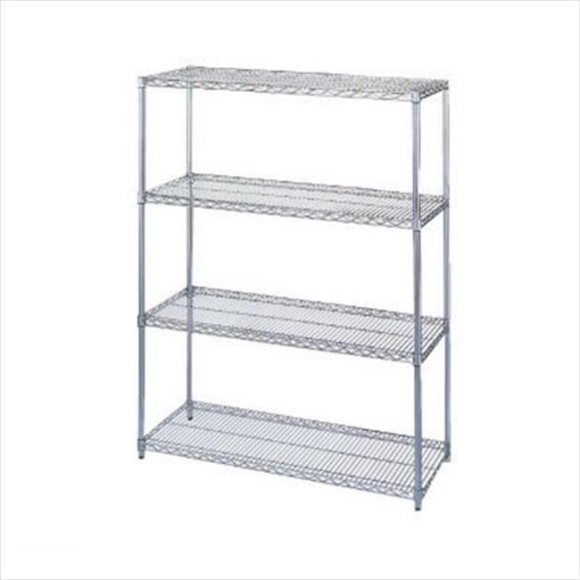 Wesco 272716 60 inch W x 74 inch H x 24 inch D Wire Shelving Starter Unit - Four Shelf
