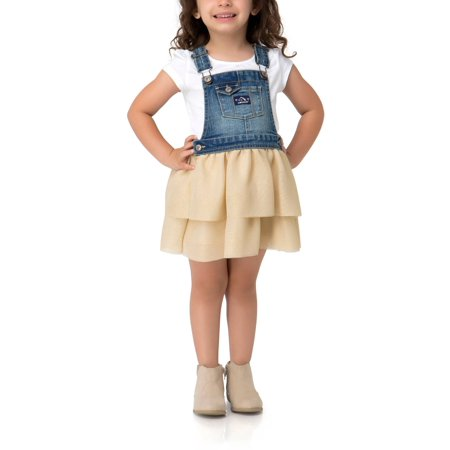 c8950766e33e Jordache - Tiered Ruffle Skirtall (Toddler Girls) - Walmart.com