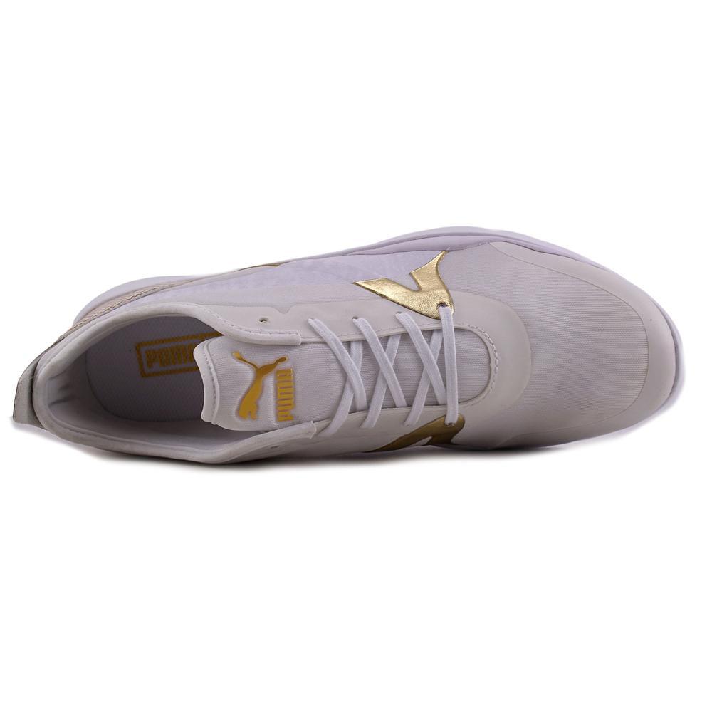 Puma Duplex Evo GOLD Women  Round Toe Synthetic White Sneakers