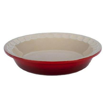 Le Creuset Stoneware Pie Pans 9-Inch Cerise (Cherry Red)